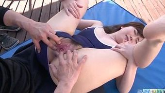 Swimming pool porn sensations for young Kaho
