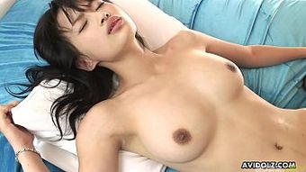 Busty Asian hottie's pussy gets extremely wet while being fucked