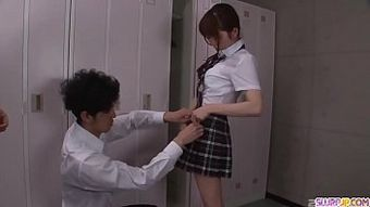 Moe Sakura does blowjob and fucks at school - More at Slurpjp.com